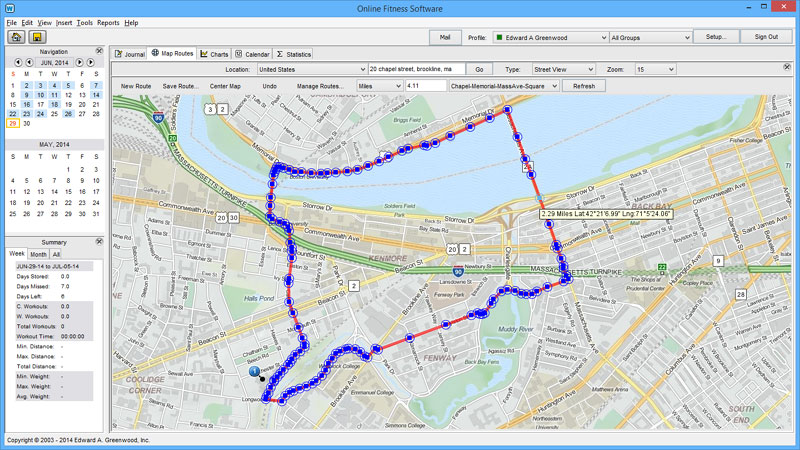 Map runs without GPS
